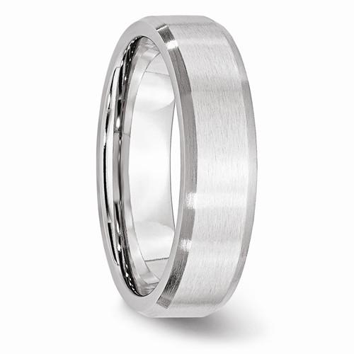 Details about  /Cobalt Beveled Edge Satin 7mm Band S:9.5